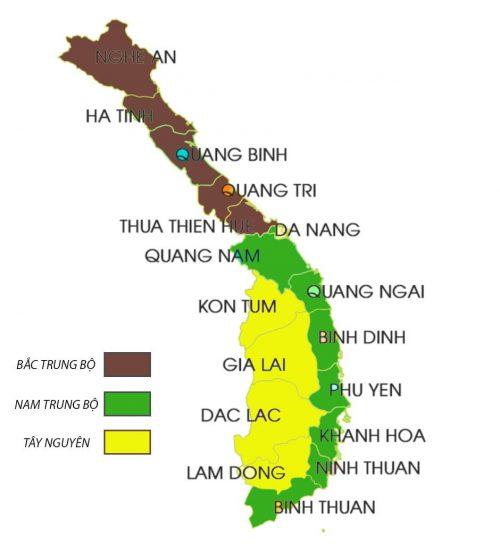 Các tỉnh nằm lân cận với Phú Yên
