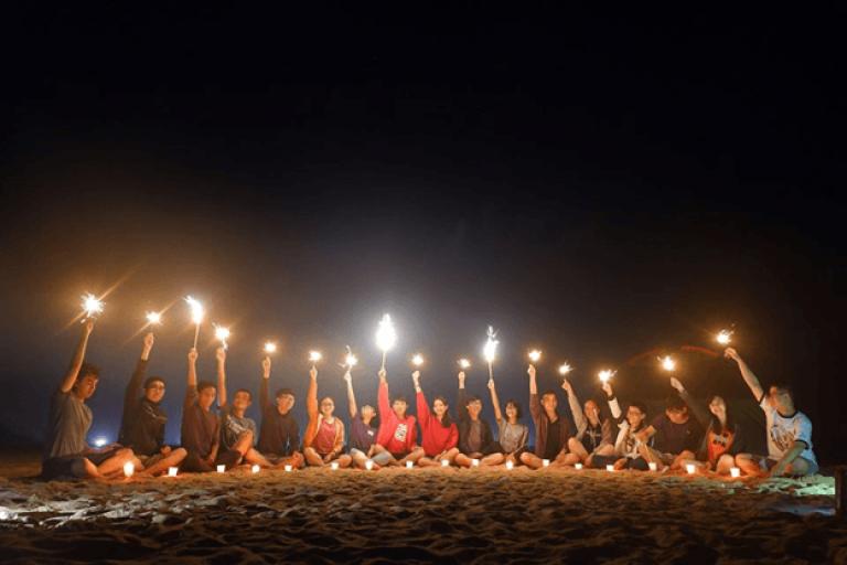 Một buổi khám phá qua đêm ở Bãi Môn-Mũi Điện