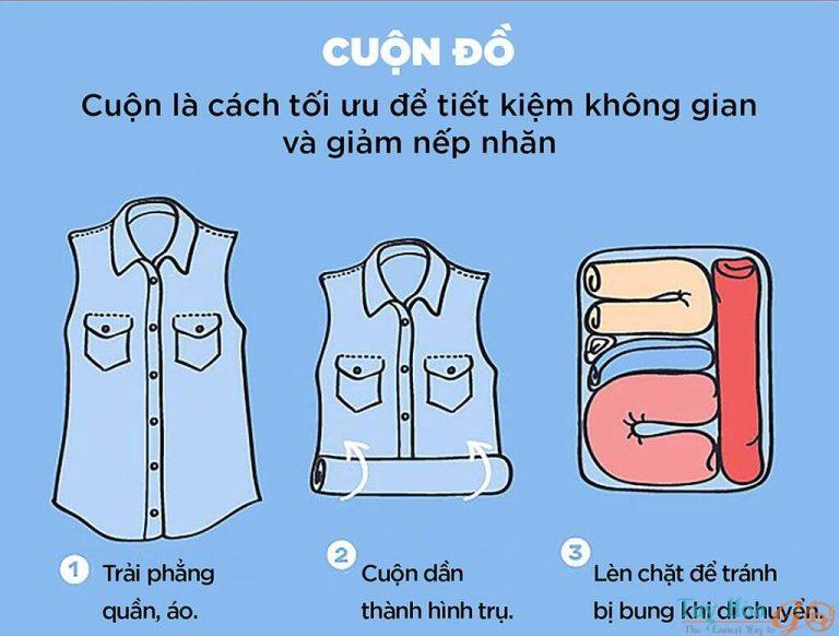 Lưu ý chất liệu quần áo cất vào vali