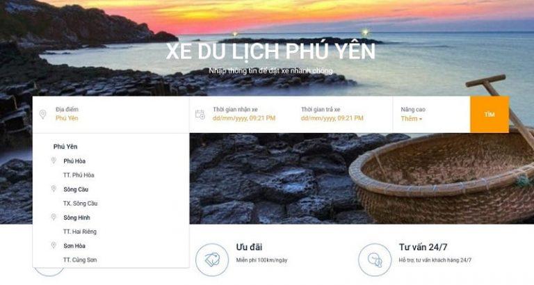 1-thue-xe-tuy-hoa-online Quy trình thuê xe Tuy Hòa online trên Tuyhoago nhanh chóng, dễ dàng