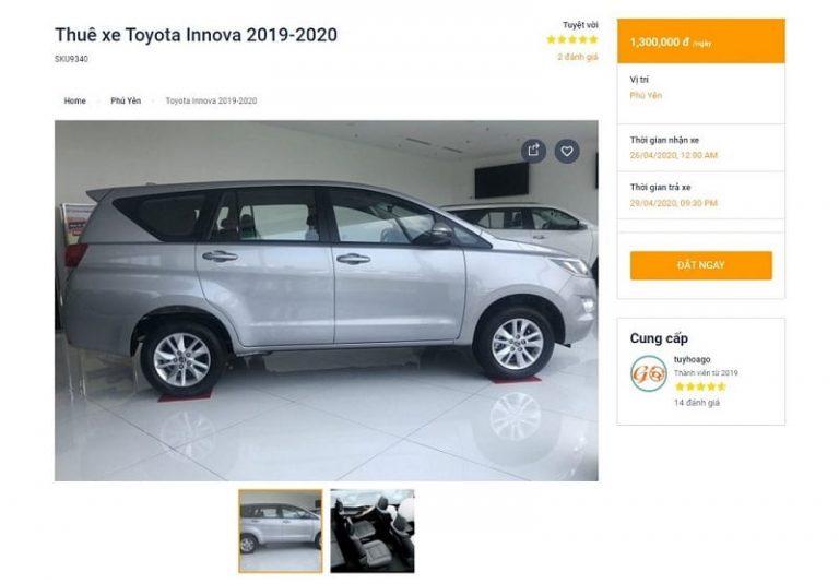 5-thue-xe-tuy-hoa-online Quy trình thuê xe Tuy Hòa online trên Tuyhoago nhanh chóng, dễ dàng