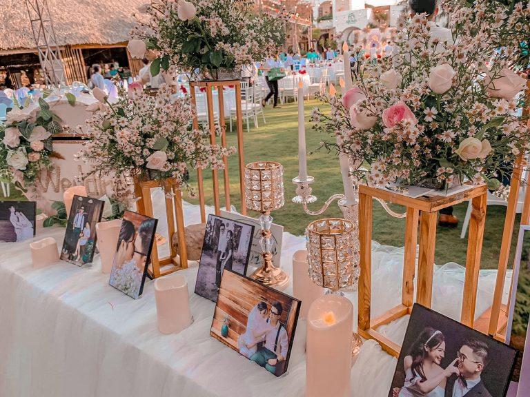 Trang trí tiệc cưới ngoài trời của Trúc Lai Decor