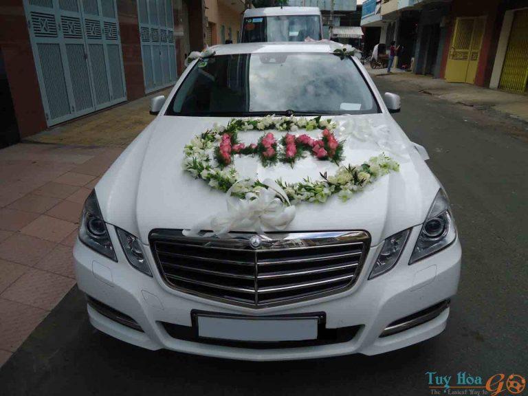 Trang trí xe cưới Quy Nhơn chất lượng tại Tuy Hòa Go