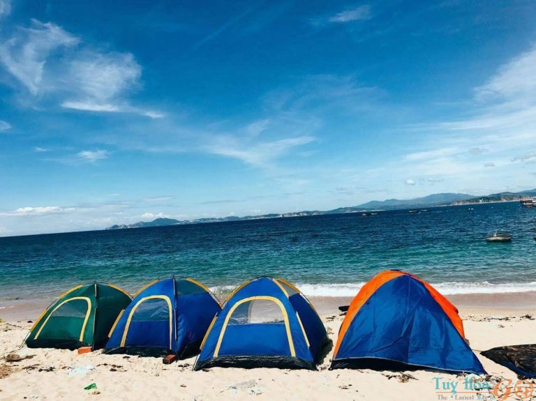 Cắm trại, đón gió biển và ngắm mặt trời mọc tại bãi biển