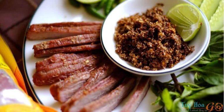 Quy trình chế biến bò một nắng muối kiến vàng