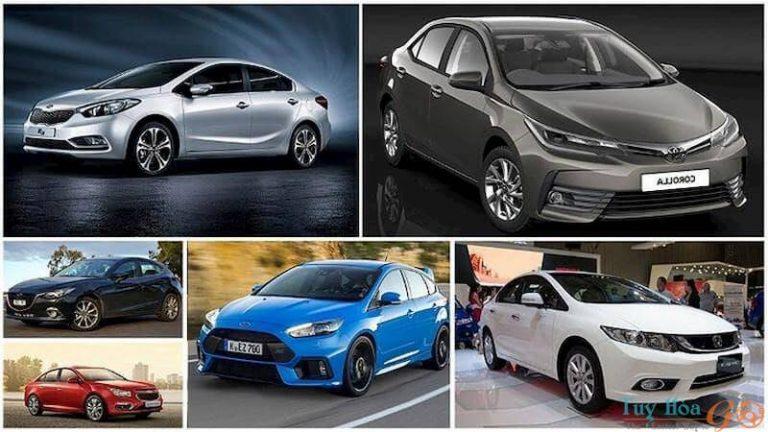 Các mẫu xe 4 chỗ phổ biến đang cho thuê