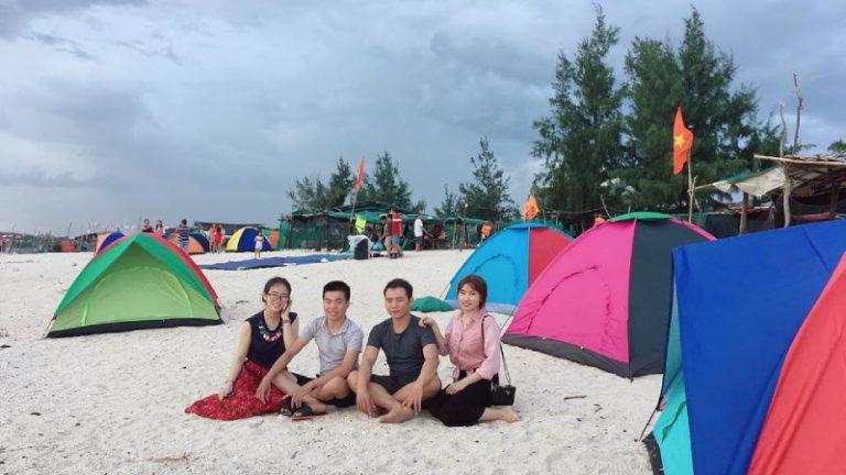 Tem building, cắm trại qua đêm trên đảo Hòn Chùa