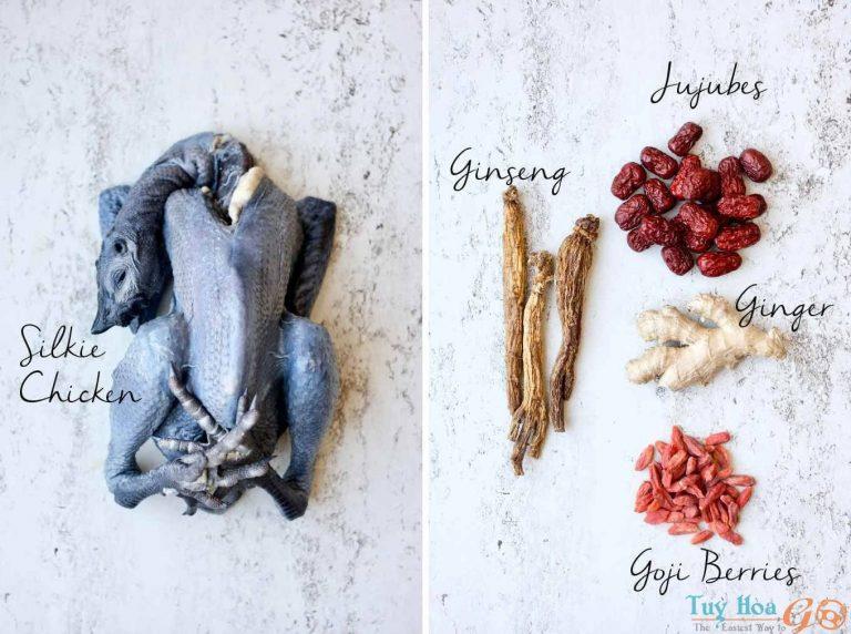 Tuyệt chiêu cách làm gà ác hầm thuốc bắc bổ dưỡng