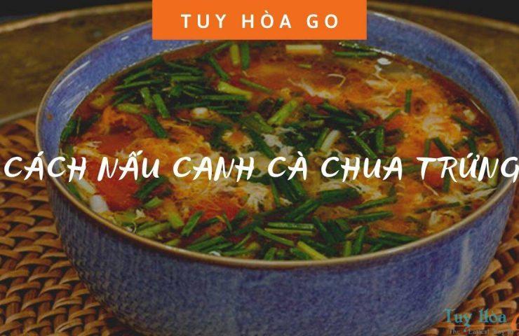 cách nấu canh cà chua trứng